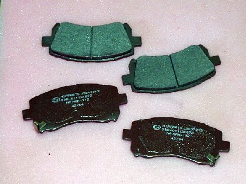 Brake pads, front, Forester/Impreza/Legacy 1996 on